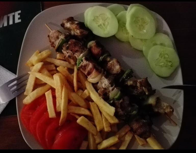 Sarafovo, jídlo v restauraci