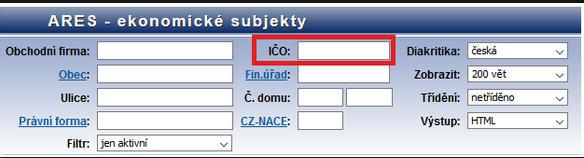 Ověření platného IČ v Excelu